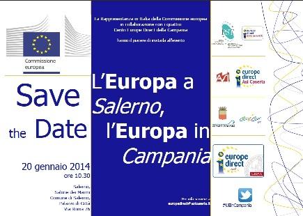 L'EUROPA ARRIVA IN CAMPANIA. A Salerno il dibattito sul futuro dell'Europa