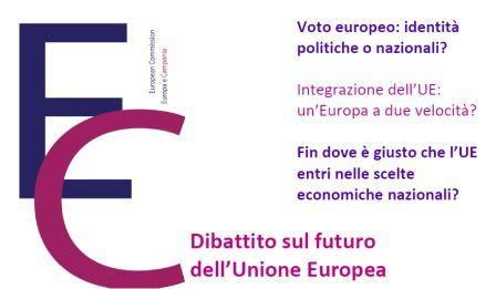 Futuro dell'Europa: il 3 aprile il dibattito a Caserta