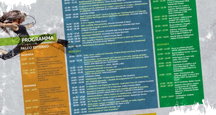 Youth on the Move a Napoli! 24.10-25.10 Piazza Dante, Napoli