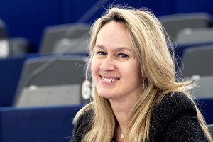 Portraits of Constance Le GRIP in Strasbourg Hemicycle