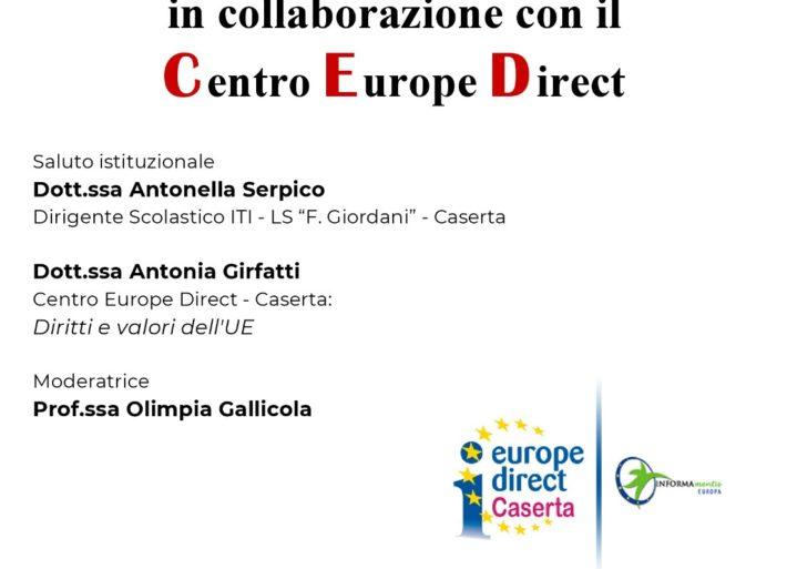 """Incontro-dibattito """"Giovani@EU&ASOC"""" 5 ottobre  2018 presso l'Istituto ITIS-LS Giordani di Caserta"""