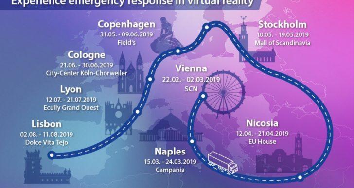 Il Commissario europeo Christos Stylianides al Roadshow EU Saves Lives il 22 marzo 2019 presso il Centro Commerciale Campania di Marcianise