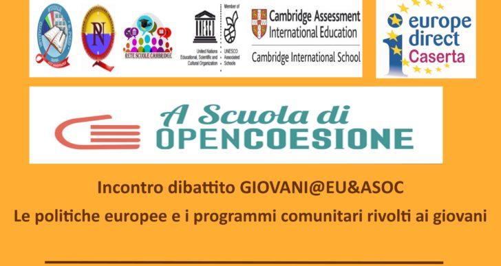 """Incontro-dibattito """"Giovani@EU&ASOC"""" 2 ottobre 2019 presso il Liceo Statale S.Pizzi di Capua"""