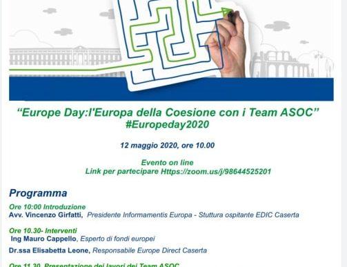"""""""Europe Day: l'Europa della Coesione con i Team ASOC"""" #Europeday2020"""