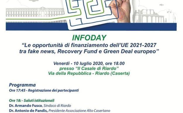 """""""Le opportunità di finanziamento dell'UE 2021-2027 tra fake news, Recovery Fund e Green Deal europeo"""""""