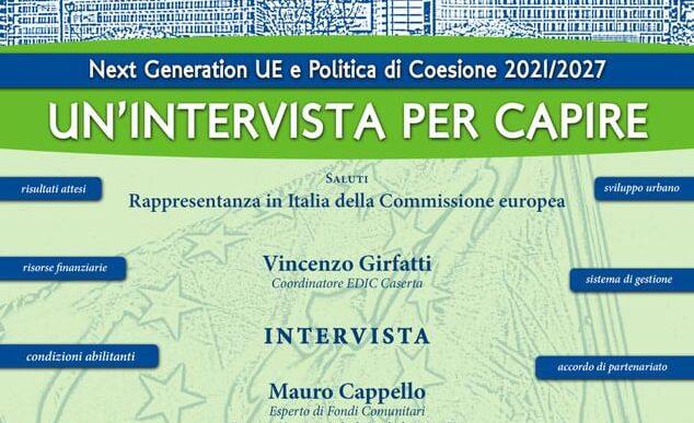 Next Generation UE e Politiche di Coesione 2021 – 2027 mercoledì 2 Dicembre 2020 ore 10.30